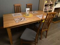 Real Oak Dining Table plus 4 chairs