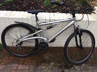 Raleigh diamond back full suspension mountain bike