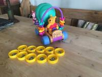 Rare Winnie The Pooh electronic car counting toy