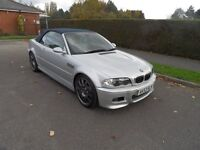 BMW M3 3.2 Convertible 6 speed manual, 2003/53 ,full history super looking car silver /grey leather
