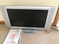 """Sanyo CE27LD6-B, 27"""" LCD, HD Colour TV and Remote"""