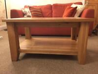Besp-Oak solid oak chunky coffee table