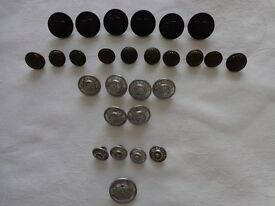Set of vintage RAILWAY BUTTONS
