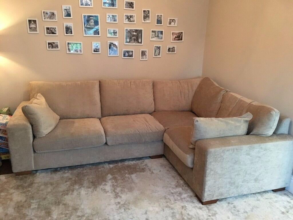 Next Large L Shape Corner Sofa Sand Colour