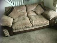 Large 2 Seater Sofa fabric. Arm Chair. Pouffe
