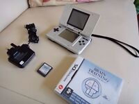 Nintendo DS With Charger & Game