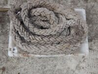 Thick traditional shipping rope