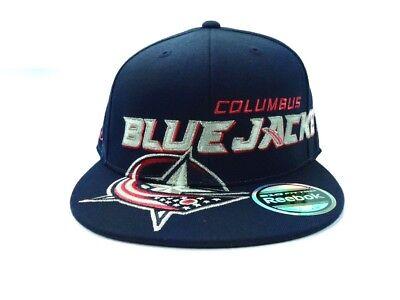 Columbus Blue Jackets Reebok MO88Z NHL Team Logo Flex Fit Hockey Cap -