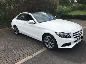 Private Chauffeur/Driver with Mercedes C-Class Crystal-WhiteEdition