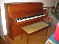 Welmar upright piano in excellent condition with beautiful touch and tone