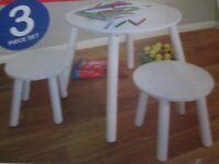 Kidsaw Brand NewTable and 2 Stool Set