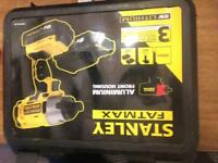 18v Stanley fat max impact driver with box two lithium battery's