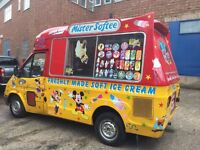 Transit soft ice cream van