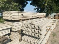 8FT REINFORCED CONCRETE FENCING POSTS - NEW