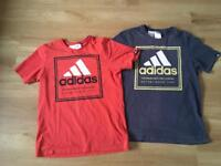 Adidas t-shirts 13-14yrs