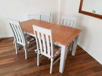 M&S Extending Dining Table & 4 Chairs