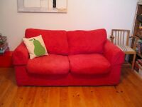 Two seater sofa bed, £30 excellent condition. Washable fabric covers