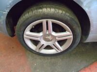 """2005 AUDI A4 B7 S LINE 17"""" ALLOYS WITH TYRES 5X112 SET OF 5 8E0601025AS #7402"""