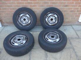 """Genuine Ford Transit MK7 15"""" Steel Wheels - Set of 4"""