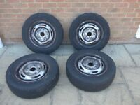 "Genuine Ford Transit MK7 15"" Steel Wheels - Set of 4"