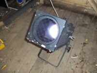 Converted theatre light, colour changing