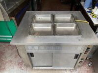 COMMERCIAL CATERING BAIN MARIE UNDER HOT CUPBOARD FAST FOOD TAKE AWAY KITCHN BBQ SHOP