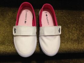 Brand new small girls Lacoste canvas shoes
