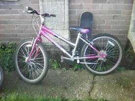 Girls pink and grey bike