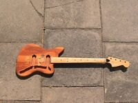 DIY fretless bass no hardware, for spares or repair or own project