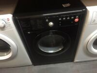 INDESIT 7/5KG BLACK WASHER DRYER