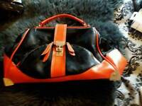 Lovely black and orange handbag