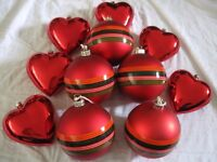 VERY LARGE BAUBLES AND HEARTS