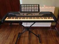 Yamaha keyboard. Piano with stand