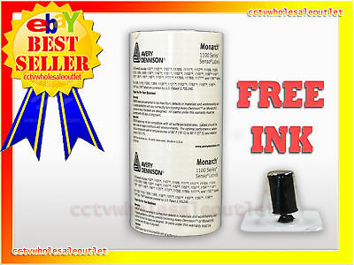 Genuine Monarch 1130 White Labels 10 Rolls 1 Free Ink