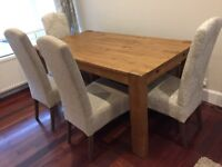 Next Hartford Rustic Extendable Dining Table Chairs Bench