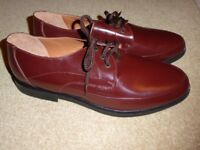 Clifford James BRAND NEW brown mens laceup leather shoes. Size 9