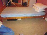 Children's Pine Bed and mattress