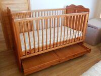 pine cot-bed