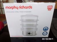 Morphy Richards Tier Steamer - Stainless Steel - Witham