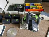 Festool cordless plunge saw and drill