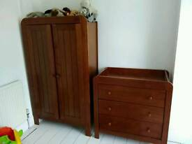 Mamas and Papa's chest of drawers and wardrobe