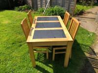 Wooden Kitchen / dining room table and chairs