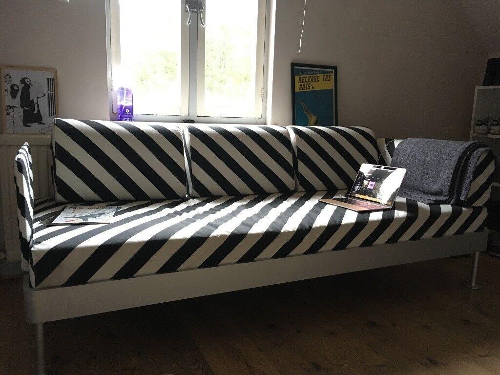 Tom Dixon X Ikea Delaktig Collection Black And White Stripes Sofa