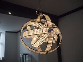 Crystal/Diamante Light Fixtures - 6 to sell