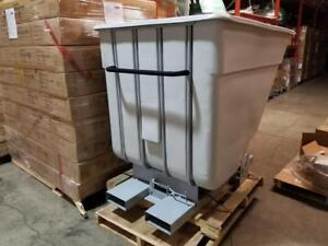 Forklift Self-Dumping Hopper w/ Wheels - 2 Cubic Yard Capacity - Only $1250!