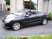 2007 Peugeot 207cc, coupe, cabriolet, low miles, excellent condition, not TT mini mx5 megane tigra