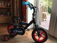 Toddlers peddle bike