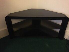 Tv cabinet - black glass