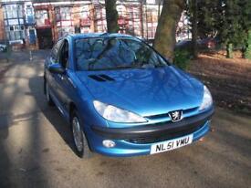 PEUGEOT 206 1.6 110 GLX 5dr [AC] BARGAIN CAR FOR BARGAIN PRICE (blue) 2001