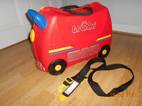 TRUNKI FRANK THE FIRE ENGINE ride on suitcase VERY GOOD CLEAN USED CONDITION